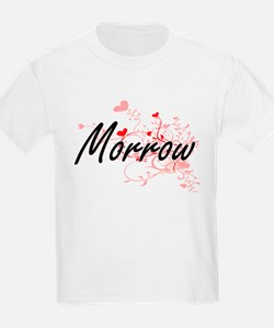 Morrow Artistic Design with Hearts T-Shirt