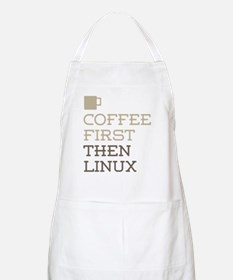 Coffee Then Linux Apron