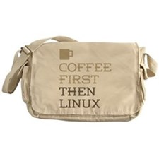 Coffee Then Linux Messenger Bag