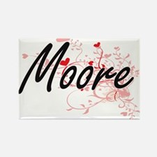 Moore Artistic Design with Hearts Magnets