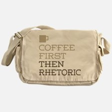 Coffee Then Rhetoric Messenger Bag