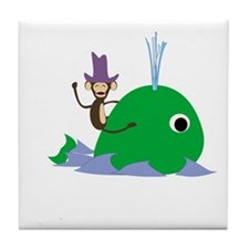 Funny Whale Tile Coaster
