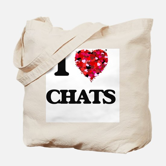 I love Chats Tote Bag