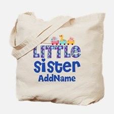 Personalized Name Little Sister Tote Bag