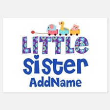 Personalized Name Little Sister Invitations
