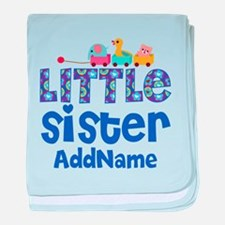 Personalized Name Little Sister baby blanket