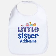 Personalized Name Little Sister Bib