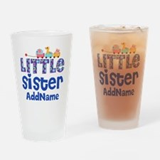 Personalized Name Little Sister Drinking Glass