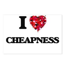 I love Cheapness Postcards (Package of 8)