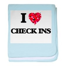 I love Check Ins baby blanket