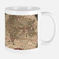 Vintage Map of The World (1641) Mugs