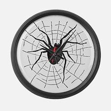Black Widow Web Large Wall Clock
