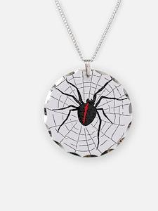 Black Widow Web Necklace