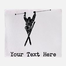 Vintage Extreme Skier (Custom) Throw Blanket