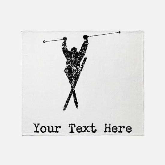 Vintage Extreme Skier (Custom) Throw Blanket