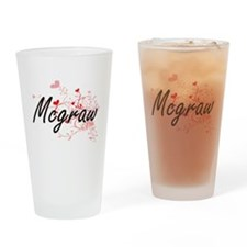 Mcgraw Artistic Design with Hearts Drinking Glass