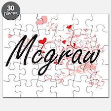 Mcgraw Artistic Design with Hearts Puzzle