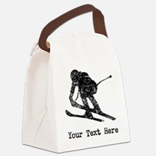 Vintage Ski Racer (Custom) Canvas Lunch Bag