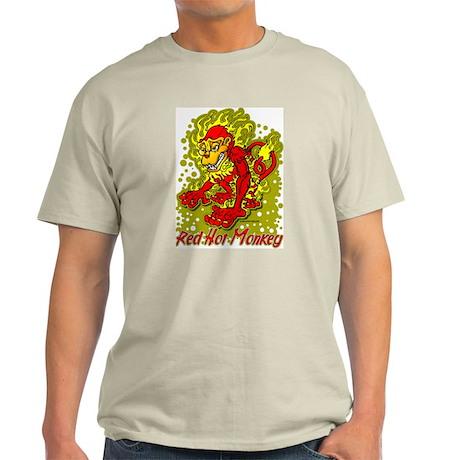 Red Hot Monkey Ash Grey T-Shirt