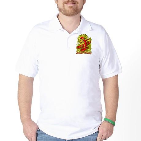 Red Hot Monkey Golf Shirt