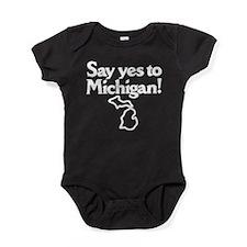 Funny Ann arbor Baby Bodysuit
