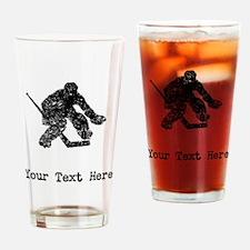 Vintage Hockey Goalie (Custom) Drinking Glass