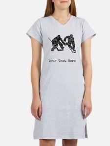 Vintage Hockey Players (Custom) Women's Nightshirt