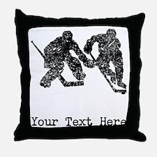 Vintage Hockey Players (Custom) Throw Pillow