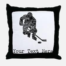 Vintage Hockey Player (Custom) Throw Pillow