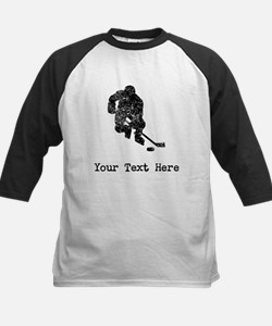 Vintage Hockey Player (Custom) Baseball Jersey