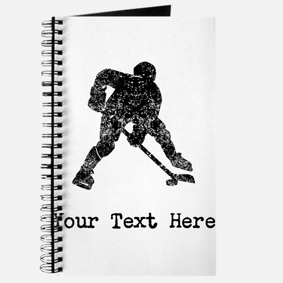 Vintage Hockey Player (Custom) Journal