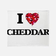 I love Cheddar Throw Blanket