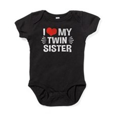 I Love My Twin Sister Baby Bodysuit