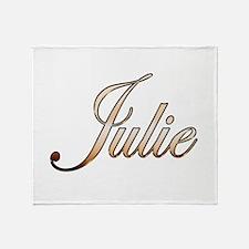 Gold Julie Throw Blanket