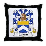 Balarin Family Crest Throw Pillow