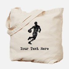 Vintage Basketball Player (Custom) Tote Bag