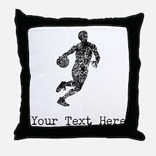 Vintage Basketball Player (Custom) Throw Pillow