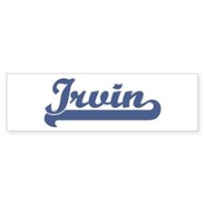 Irvin (sport-blue) Bumper Bumper Sticker