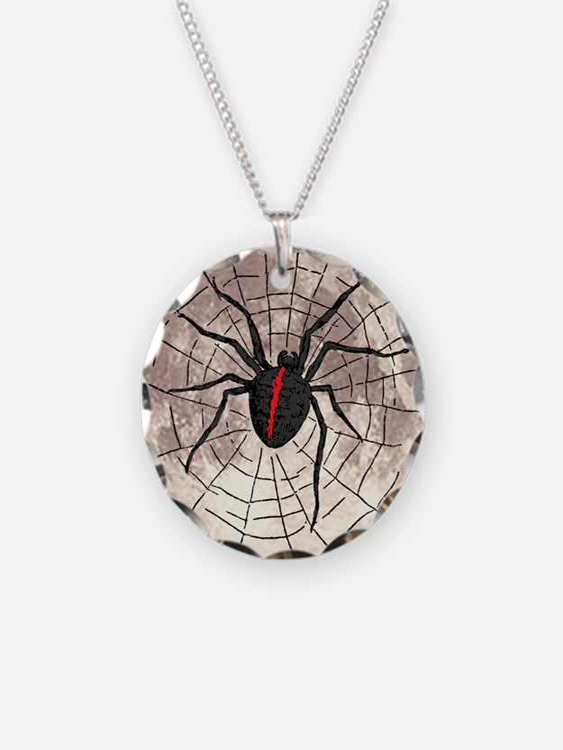 Black Widow Moon Necklace