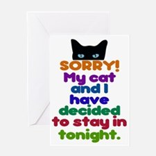 My Cat And I Are Staying Home Excuse Greeting Card
