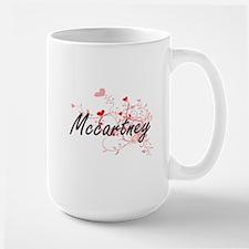 Mccartney Artistic Design with Hearts Mugs