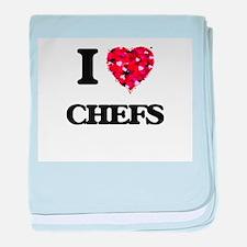 I love Chefs baby blanket