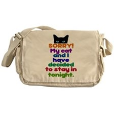 My Cat And I Are Staying Home Excuse Messenger Bag