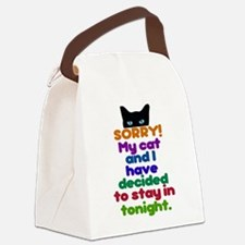 My Cat And I Are Staying Home Exc Canvas Lunch Bag