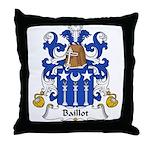 Baillot Family Crest Throw Pillow