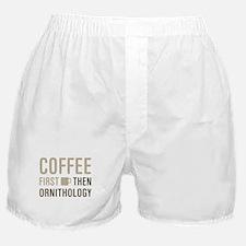 Coffee Then Ornithology Boxer Shorts