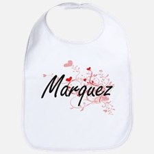 Marquez Artistic Design with Hearts Bib