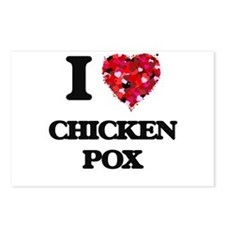 I love Chicken Pox Postcards (Package of 8)