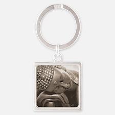 Thai Buddha Square Keychain