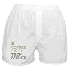 Coffee Then Patents Boxer Shorts